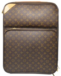 Louis Vuitton 55 Rolling Suitcase Canvas Travel Bag