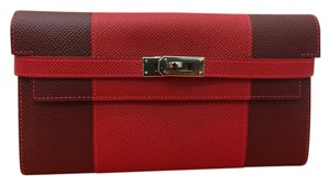 Hermès Two Tone Epson Leather Kelly Classic Long Wallet