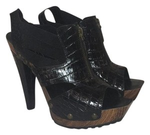 Jessica Simpson black/ brown base Mules