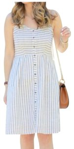 Old Navy short dress blue and beige striped on Tradesy