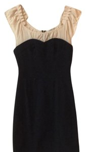 Charlotte Russe short dress Navy/Beige on Tradesy