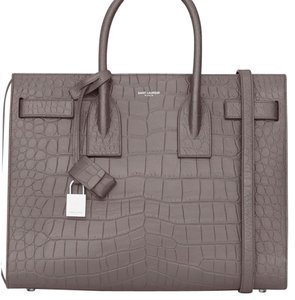 Saint Laurent Satchel in Light Grey