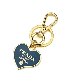 Prada Prada Heart Blue Gold Metal Women's Key Chain 1PS398