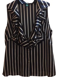 Ralph Lauren Top Black & White Stripe