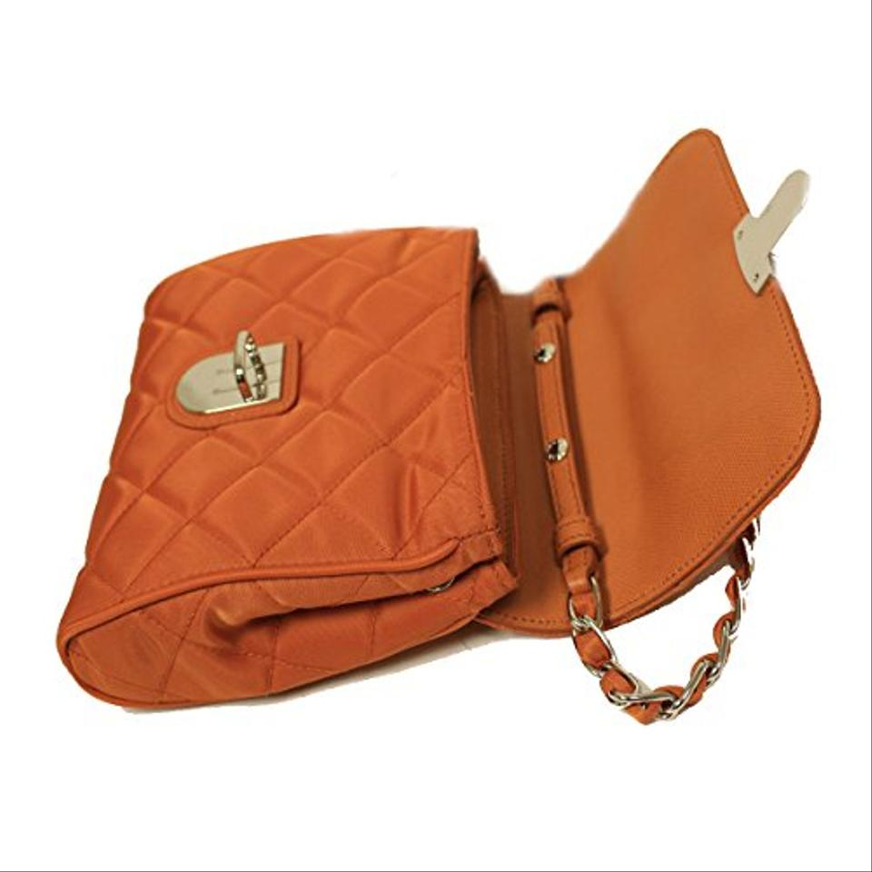 e653bed2a968 Prada Tessuto Impuntu Pattina Crossbody Bag - Papaya | Stanford ...