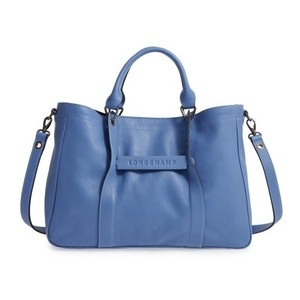 Longchamp Work Office Modern Soft Tote in Blue Mist