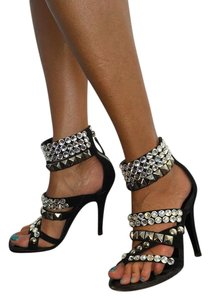 Giuseppe Zanotti Black with Crystals Sandals
