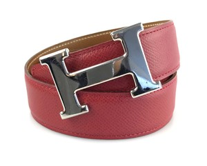 Herms Red and Gold 32mm Reversible Constance Belt