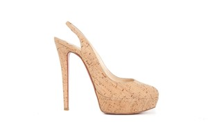 Christian Louboutin Louboutin Cork Slingbacks Stilleto Beige Pumps