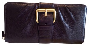 Coach Coach Leather Zip Around Wallet