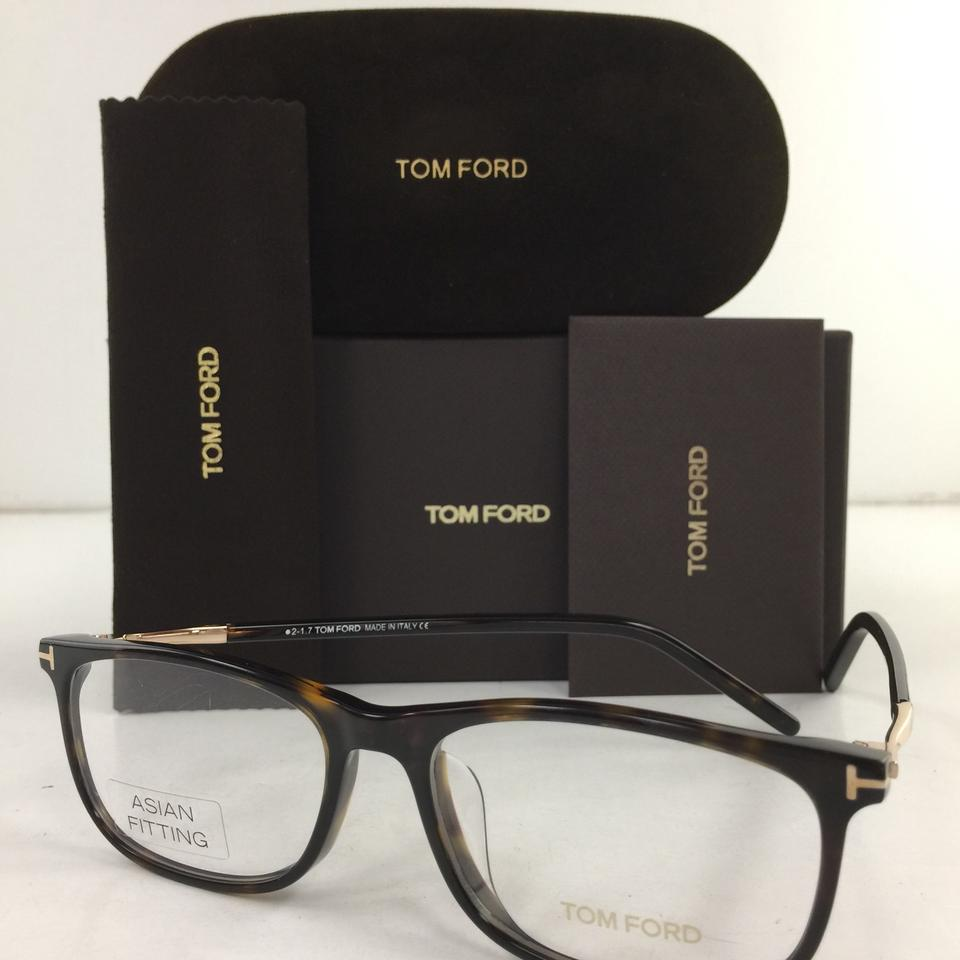 Tom Ford Brown Gold 5398-f 052 Rectangular Square Asian Fit Plastic ...