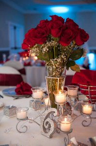 Silver Wrought Iron Centerpiece With 8 Votives