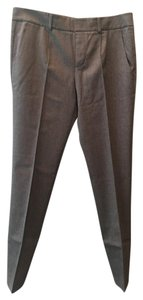 Vince Wool Stretch Cropped Pants Capris Heathered Charcoal Grey