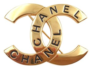 Chanel Chanel Vintage 24K Gold Plated CC CHANEL Brooch