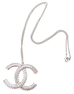 Chanel Chanel Brand New Classic Sliver CC Large Pendant Necklace