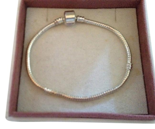 Item - Sterling Silver European Style and Beam Bracelet. 6.4 Gms Size 7.5. Fits All 4mm Hole Beads. Charm