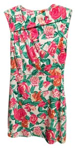 Ava & Aiden short dress Pink, white, green, floral, multi Work Summer Sheath Mini on Tradesy