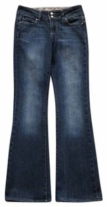 Paige Denim Wide Waistband Made In Usa Boot Cut Jeans-Dark Rinse