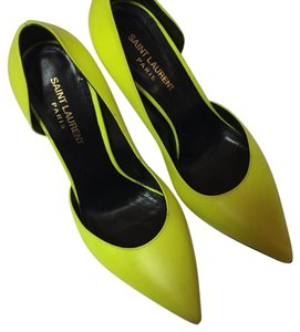 Saint Laurent neon yellow Pumps