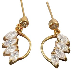 Other Crystal 9k Yellow Gold dangle earrings