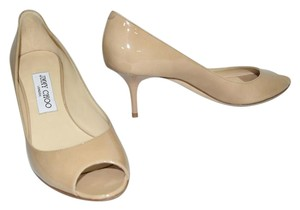 Jimmy Choo BEIGE NUDE PATENT Pumps