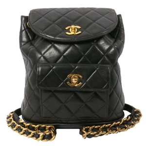 Chanel Vintage Quilted Backpack