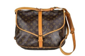 LOUIS VUITTON Monogram Saumur Cross Body Bag