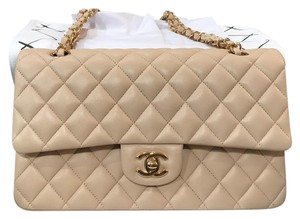 Chanel Satchel in beige with gold hardware