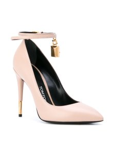 Tom Ford Ankle Lock Ankle-lock Leather Nude Pumps