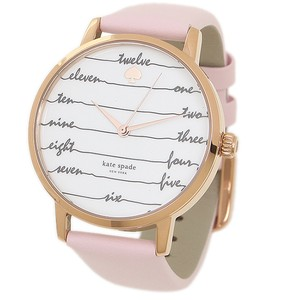 Kate Spade New York Marc Jacobs Women's pink leather and rose gold metro watch KSW1239