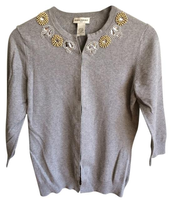 Preload https://item1.tradesy.com/images/banana-republic-gray-beaded-cardigan-size-8-m-2138985-0-0.jpg?width=400&height=650