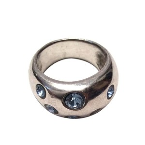 Yves Saint Laurent YSL Ring - Sterling Silver with Swarovski Crystals