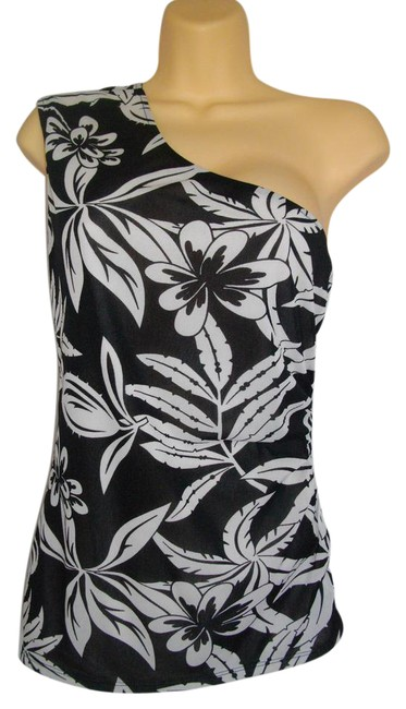 Guess Black White Style: Y4229400 Halter Top Size 12 (L) Guess Black White Style: Y4229400 Halter Top Size 12 (L) Image 1