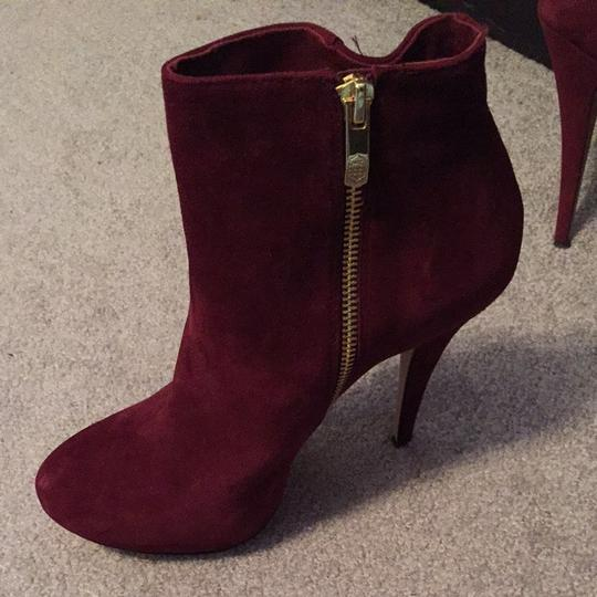 Vince Camuto Raspberry Hot Chic Burgundy Boots