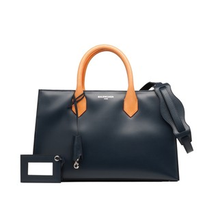 Balenciaga Tote in Navy blue/Orange