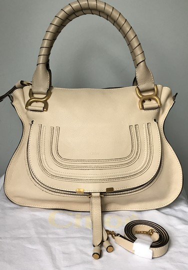 Chloé Marcie Medium Marcie Crossbody Shoulder Grey Tote in Creamy Beige Chloe