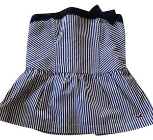 Hollister Navy and white striped Halter Top