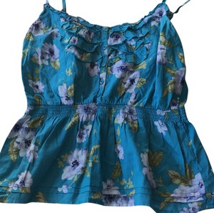 Forever 21 Top Teal with flowers