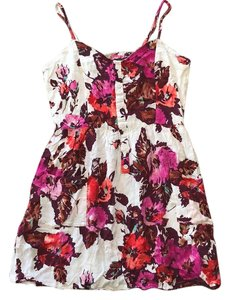Forever 21 short dress White with floral print on Tradesy