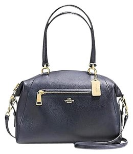 Coach Crossbody Pebbled Leather Prairie Satchel in Navy