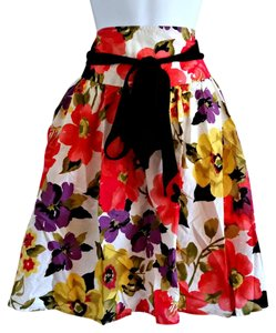 Apt. 9 Floral Midi Colorful Skirt Pink