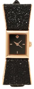 Kate Spade Marc Jacobs Women's black leather and rose gold watch KSW1185
