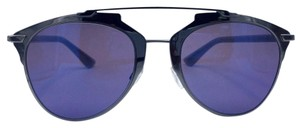 Dior Reflected Ruthenium Blue Gray Mirrored Sunglasses TUYXT
