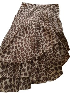 Newport News Skirt brown and cream