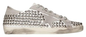 Golden Goose Deluxe Brand Leather Studded WHITE Athletic