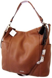 Coach Leather Shoulder Crossbody Hobo Bag