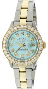 Rolex Rolex Datejust Ladies 2-Tone 26MM Oyster MOP Diamond Dial/1.3Ct Bezel