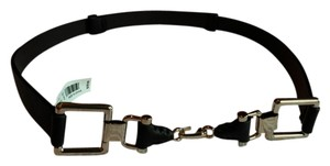 The Limited The Limited Dark Brown Adjustable Synthetic Leather Belt w/ Gold Hardware (Size