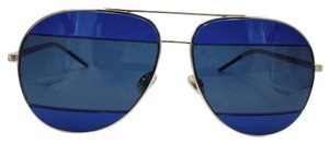 Dior Midnight Blue Split2 Two Tone Mirrored Aviator Sunglasses 000KU