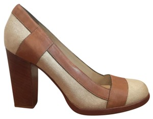 Cole Haan Heels Designer Summer Cream/brown Pumps